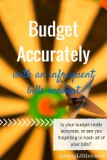 An Infrequent Bills Account: Budget Accurately