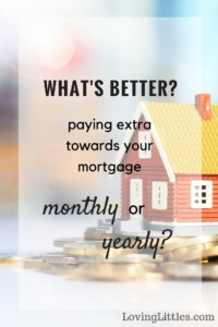 Ever wondered what the difference is between paying down your mortgage monthly vs yearly? Here's a look at the topic, plus which we've chosen to help us kick our mortgage to the curb ASAP. Happy debt-busting!