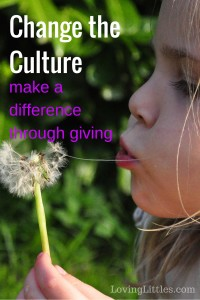 Change the Culture: make a difference through giving