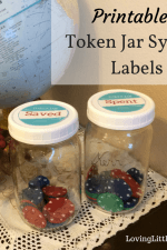 Printable Token Jar System Labels