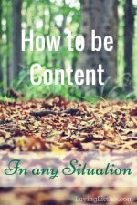 How to be Content in any Situation
