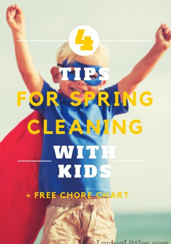 Save Money on Spring Cleaning With Kids