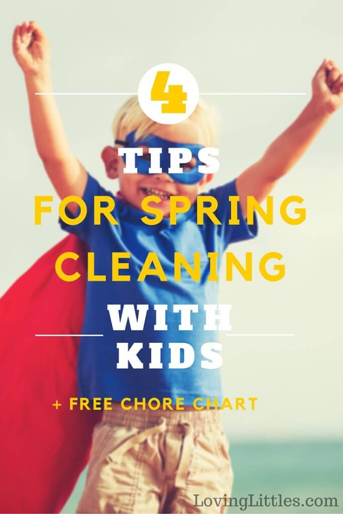 Spring cleaning with kids can be interesting! Save money (and your sanity) spring cleaning with kids by using these cost-effective tools.
