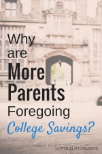 More Parents are Foregoing College Savings