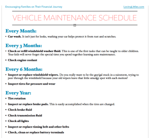 Vehicle Maintenance Schedule Thumbnail