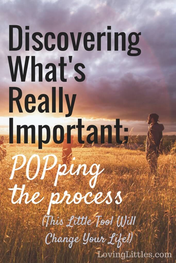 Do you find yourself running around like a chicken with its head cut off? Discover what's really important and POP the process. You'll LOVE the results.