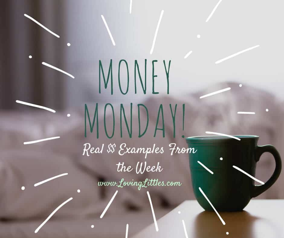 A bad decision driven by hunger pains, and tightening up the schedule as Daddy works overtime. Money Monday is here! How did you manage money this week?