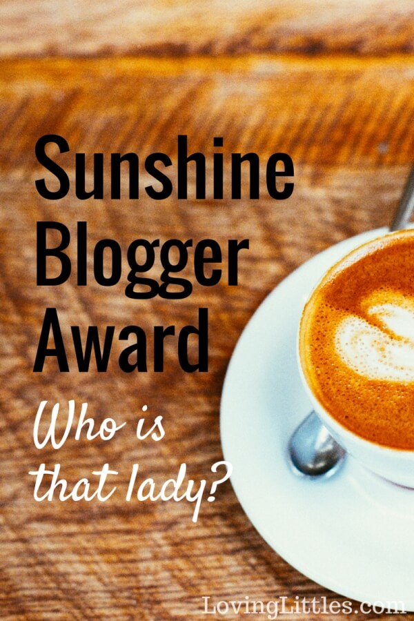 """The Sunshine Blogger Award is given to those who are inspiring and bring sunshine into the lives of their readers and fellow bloggers.""<---- Allison's explanation. She really is sunshine. I'm about as sweet and sunshiney as a bar of 90% dark chocolate."