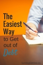 The Easiest Way to Get out of Debt