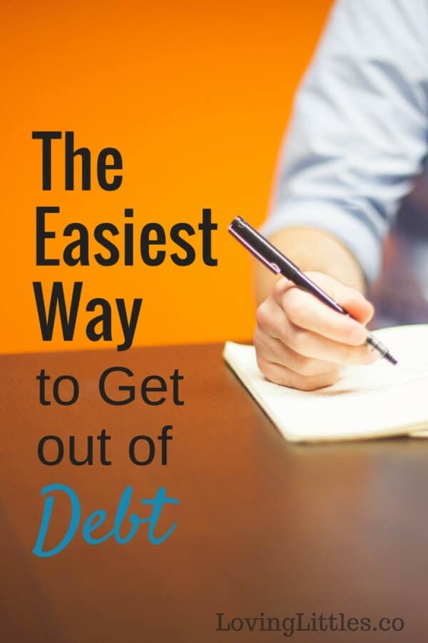 Want to know the easiest way to get out of debt? I'll give you a hint; it has nothing to with your head, and everything to do with your heart. Here's why!