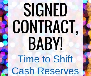 Are you holding cash in reserve due to potential job loss? Now that my husband's negotiating group has finally bartered a contract with his company, we're finally able to shift some of the cash that we've been holding in savings. Here are the financial moves we're making, and WHY.