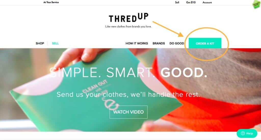 ThredUp selling Step 2