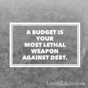 A budget is your most lethal weapon against debt