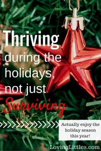 Thriving, Not Just Surviving during the Holidays