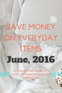 Amazon Subscribe & Save for June, 2016
