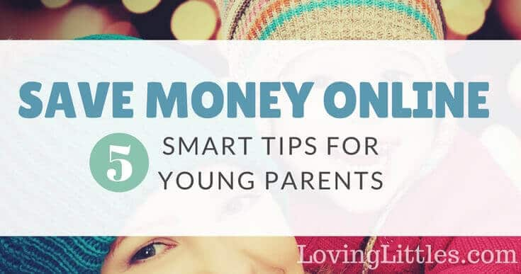 Saving money while shopping online is easy! Here are five simple ways to save lots of money (especially if you're a young parent). Click through to find out how to save money online.