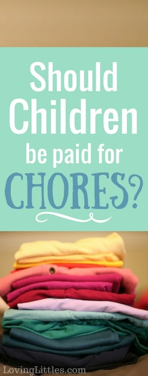 Should children be paid for chores? Here are the pros and cons of chores for kids. There are great arguments on both sides!