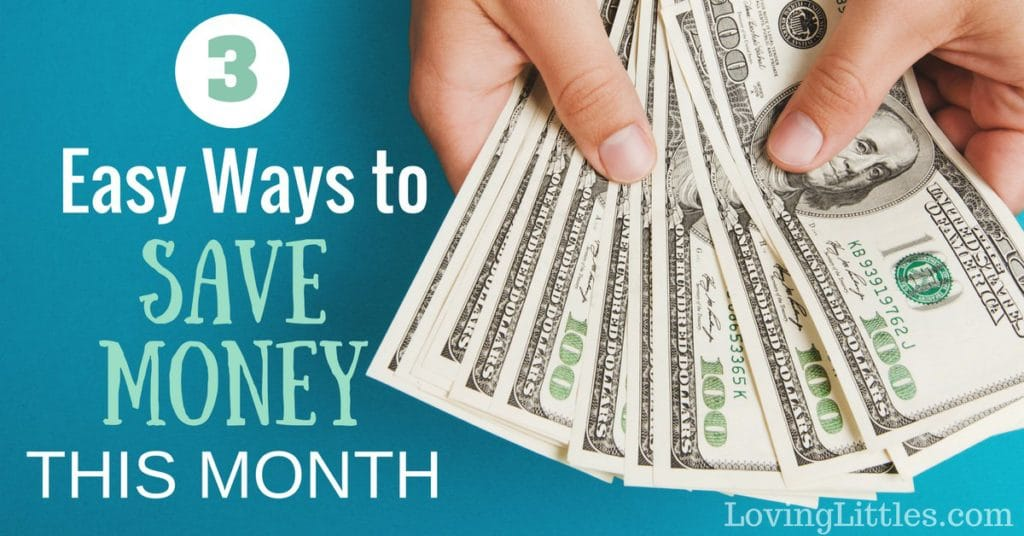 Struggling to get by financially from month to month? Just looking to cut down your family's budget? Try these 3 Easy Ways to Save Money - they're bound to help you on your financial journey to success!