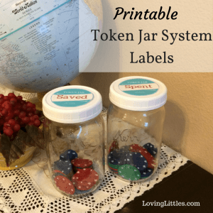 Printable Token Jar System Lids
