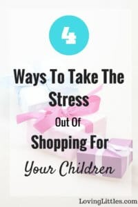 Shopping can make me want to pull my hair out! Shopping with kids is even worse. These 4 smart ideas are a huge help when it comes to shopping for (and with!) children.